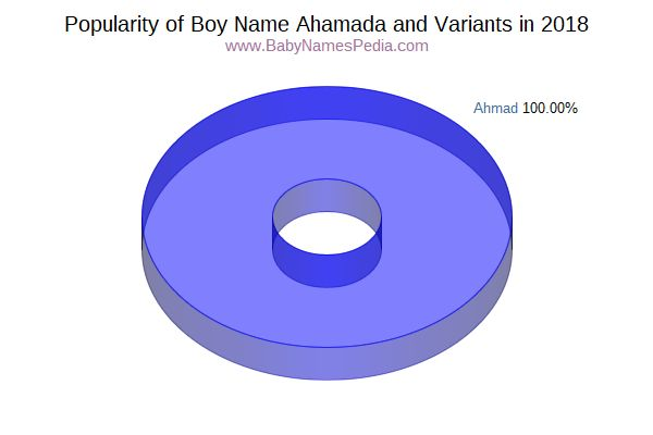 Variant Popularity Chart  for Ahamada  in 2018
