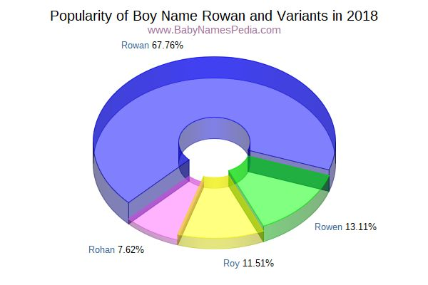 Variant Popularity Chart  for Rowan  in 2018