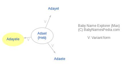 Baby Name Explorer for Adayele