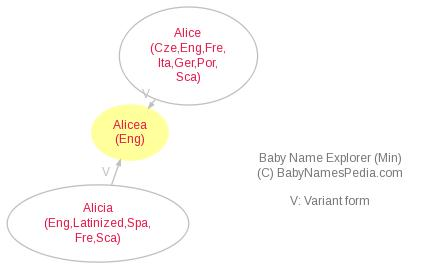 Baby Name Explorer for Alicea