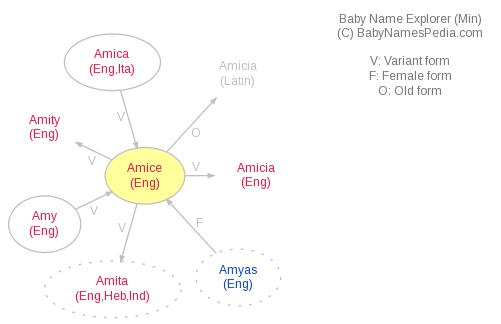 Baby Name Explorer for Amice