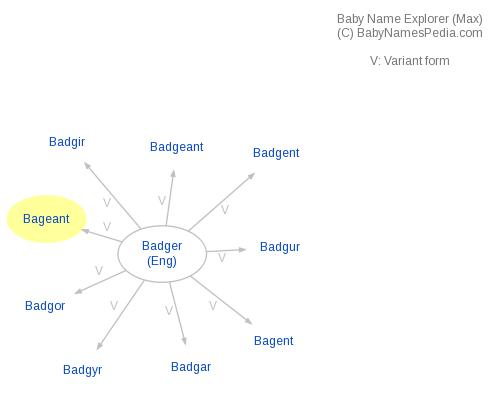 Baby Name Explorer for Bageant