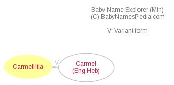 Baby Name Explorer for Carmellitia