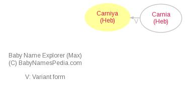 Baby Name Explorer for Carniya