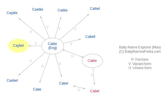 Baby Name Explorer for Caybel