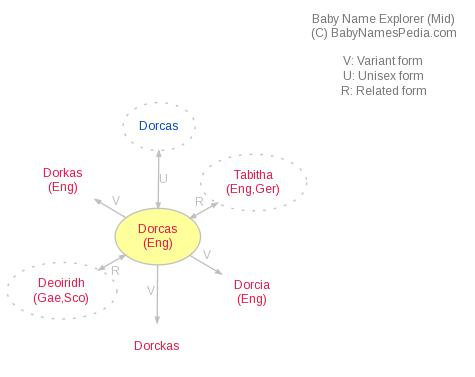 Baby Name Explorer for Dorcas