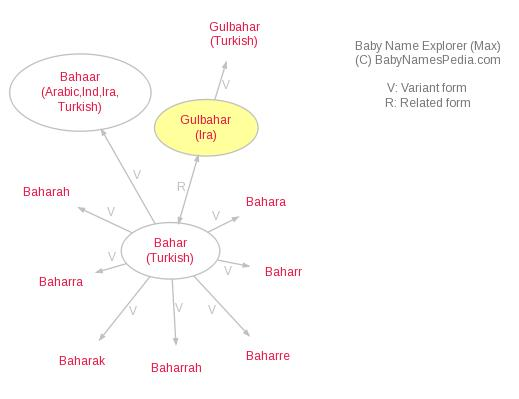 Baby Name Explorer for Gulbahar
