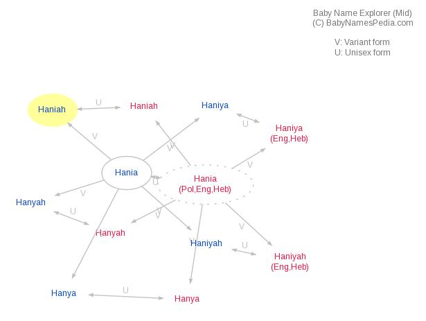 Baby Name Explorer for Haniah