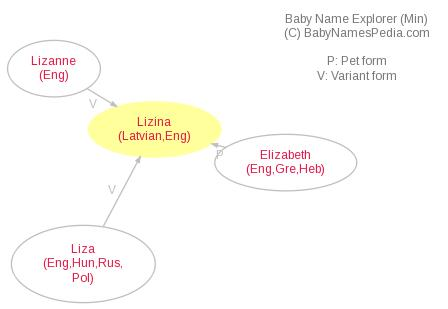 Baby Name Explorer for Lizina