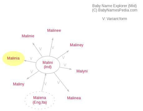 Baby Name Explorer for Malinia