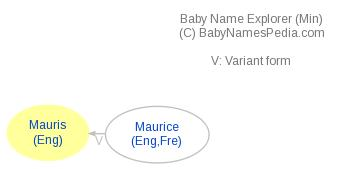 Baby Name Explorer for Mauris