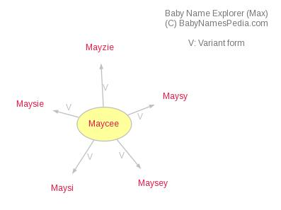 Baby Name Explorer for Maycee