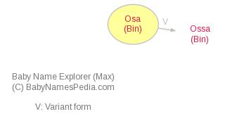 Baby Name Explorer for Osa