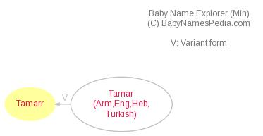 Baby Name Explorer for Tamarr