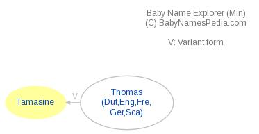 Baby Name Explorer for Tamasine