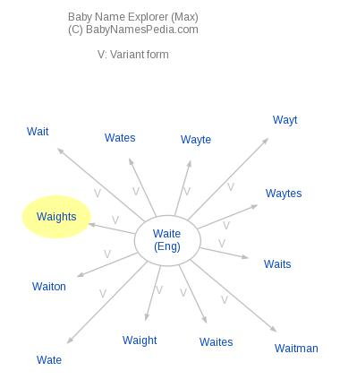 Baby Name Explorer for Waights