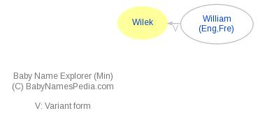 Baby Name Explorer for Wilek