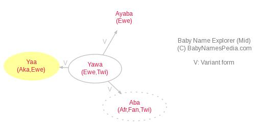 Baby Name Explorer for Yaa