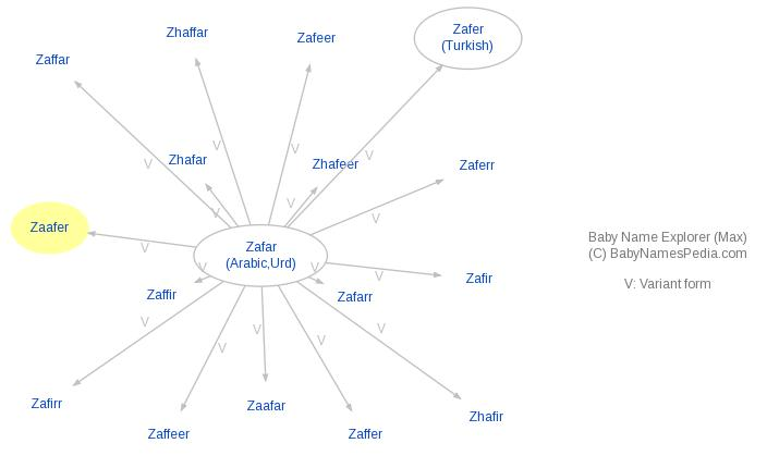 Baby Name Explorer for Zaafer