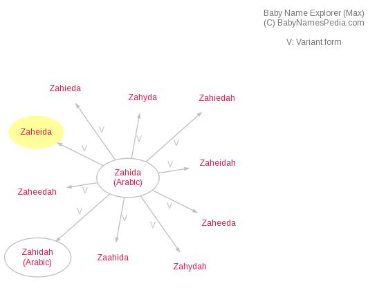Baby Name Explorer for Zaheida