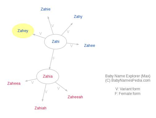 Baby Name Explorer for Zahey