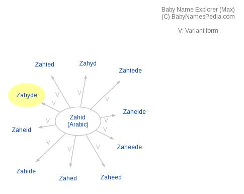 Baby Name Explorer for Zahyde