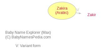 Baby Name Explorer for Zakira