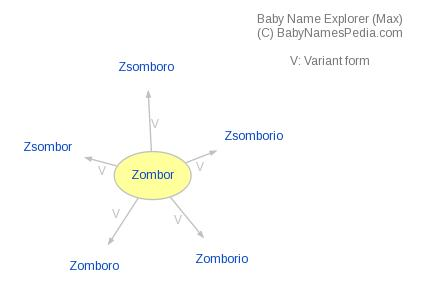 Baby Name Explorer for Zombor