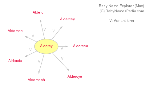 Baby Name Explorer for Aldercy