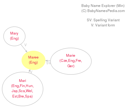 Baby Name Explorer for Maree