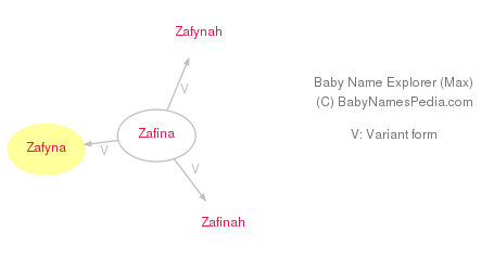 Baby Name Explorer for Zafyna