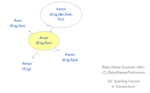 Baby Name Explorer for Arran