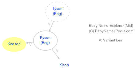 Baby Name Explorer for Kaeson