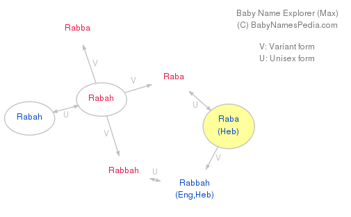 Baby Name Explorer for Raba