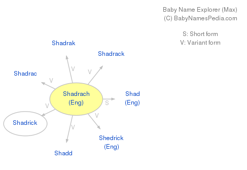 Baby Name Explorer for Shadrach