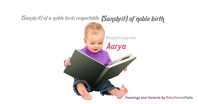 Meaning of the name Aarya