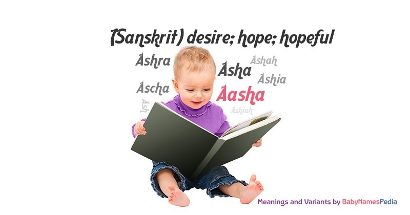 Meaning of the name Aasha