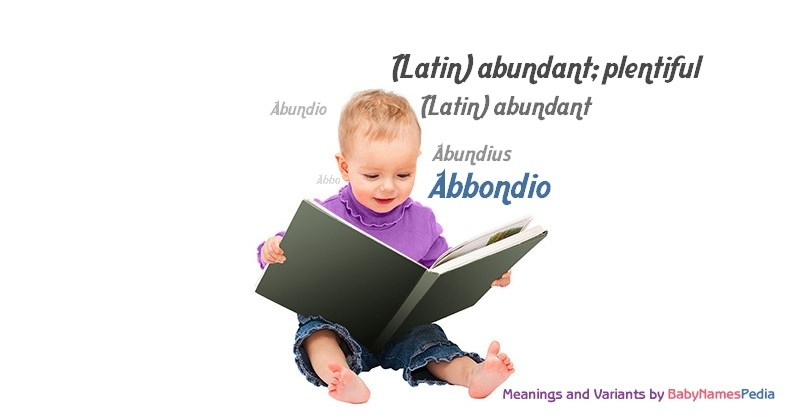 Meaning of the name Abbondio