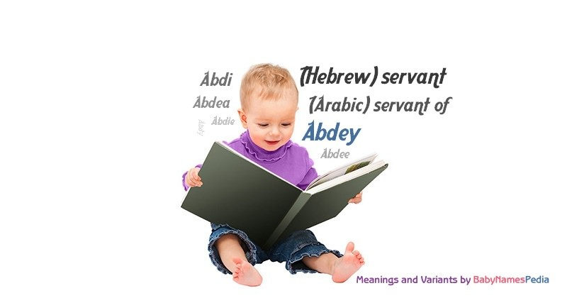Meaning of the name Abdey