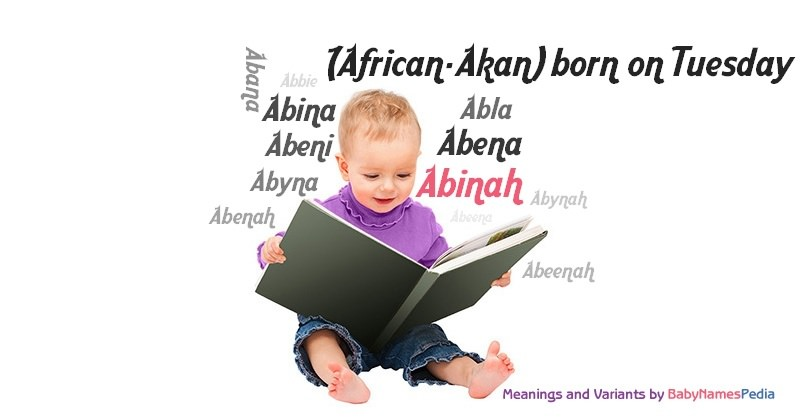 Meaning of the name Abinah
