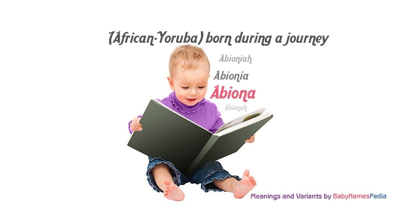 Meaning of the name Abiona
