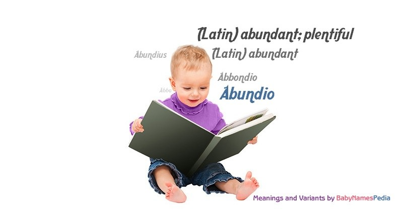 Meaning of the name Abundio