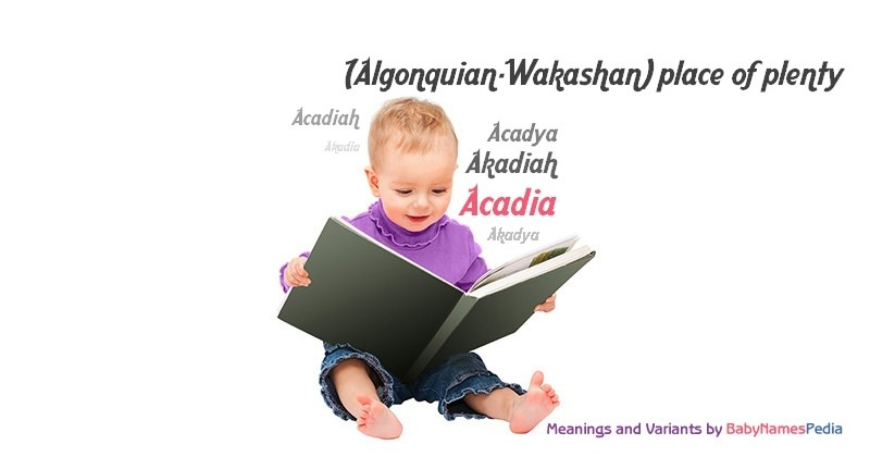 Meaning of the name Acadia