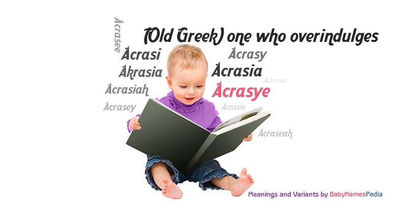 Meaning of the name Acrasye