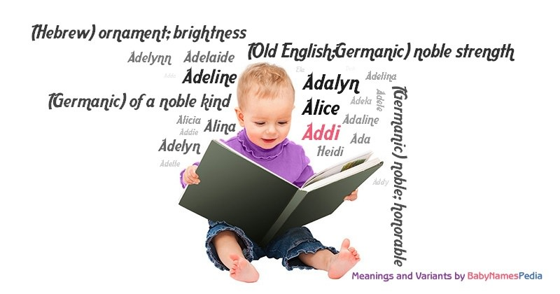 Meaning of the name Addi