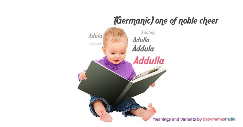 Meaning of the name Addulla