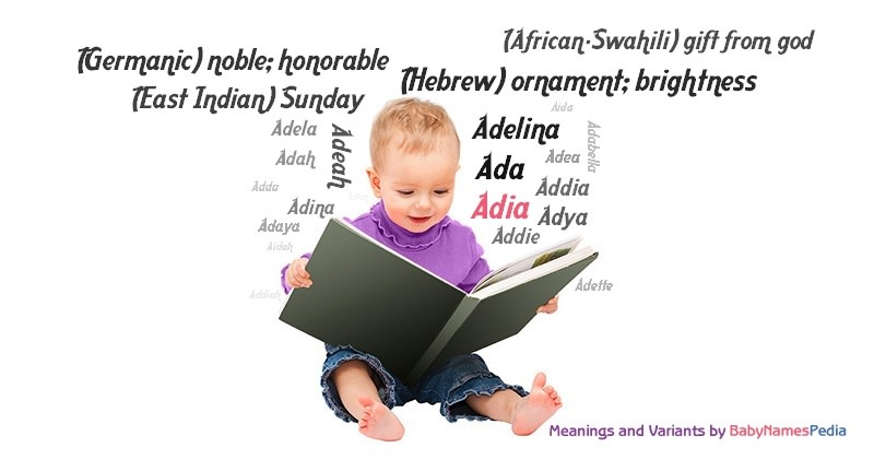 Meaning of the name Adia