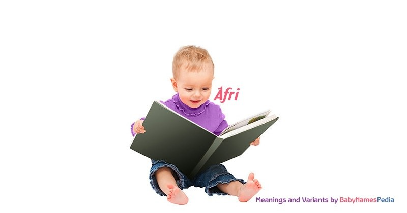 Meaning of the name Afri