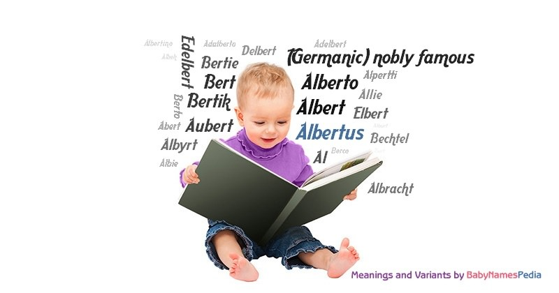 Meaning of the name Albertus