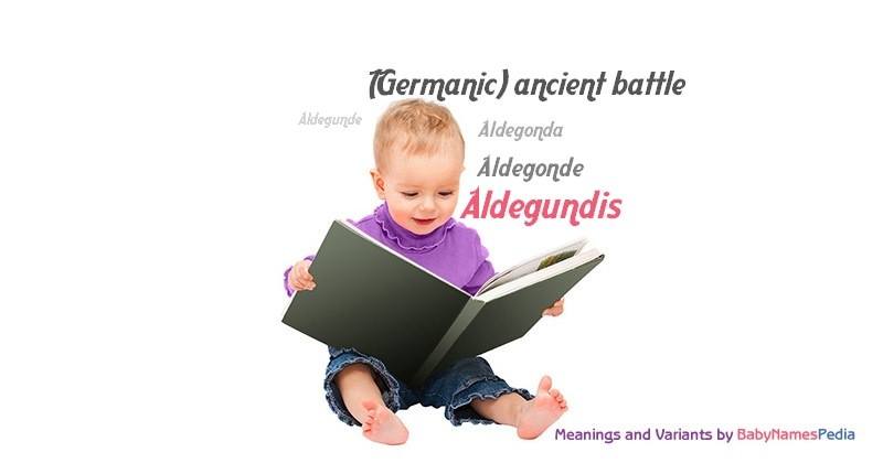 Meaning of the name Aldegundis